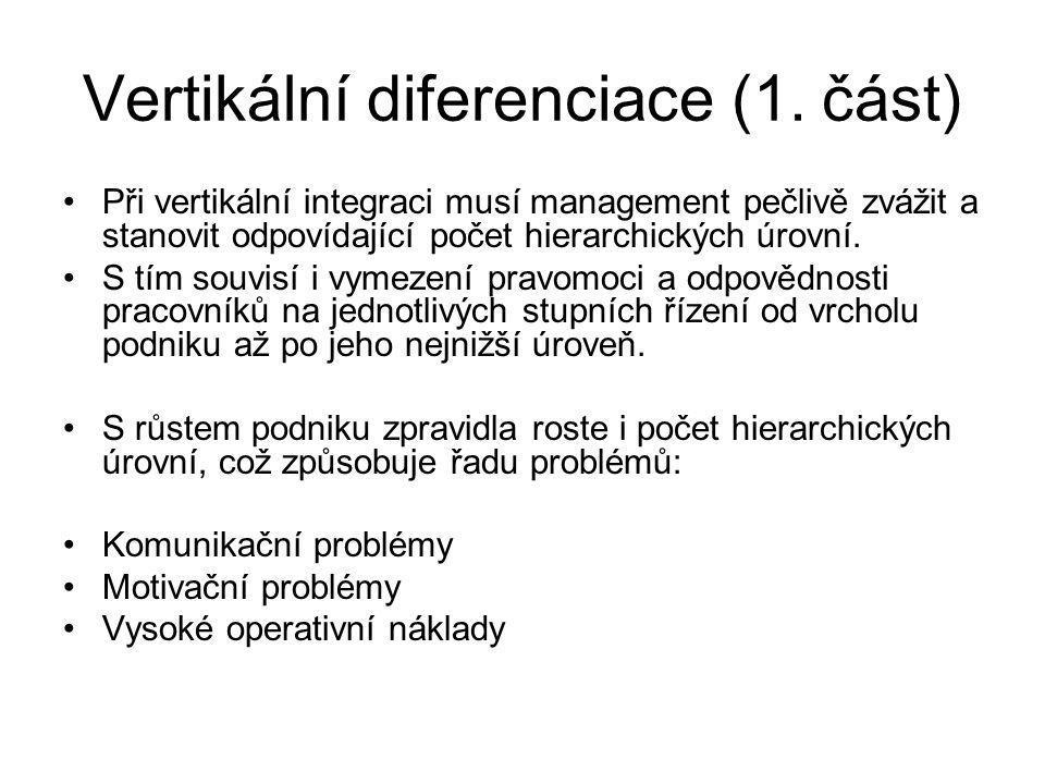 Vertikální diferenciace (1. část)