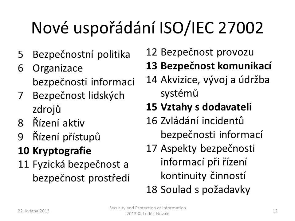 Nové uspořádání ISO/IEC 27002