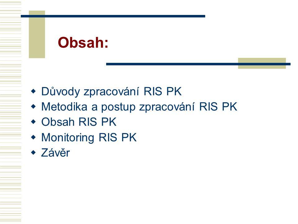 Obsah: Důvody zpracování RIS PK Metodika a postup zpracování RIS PK