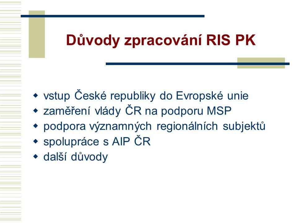 Důvody zpracování RIS PK