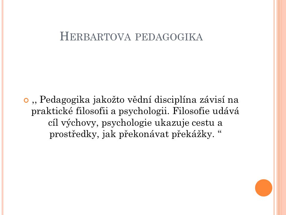 Herbartova pedagogika