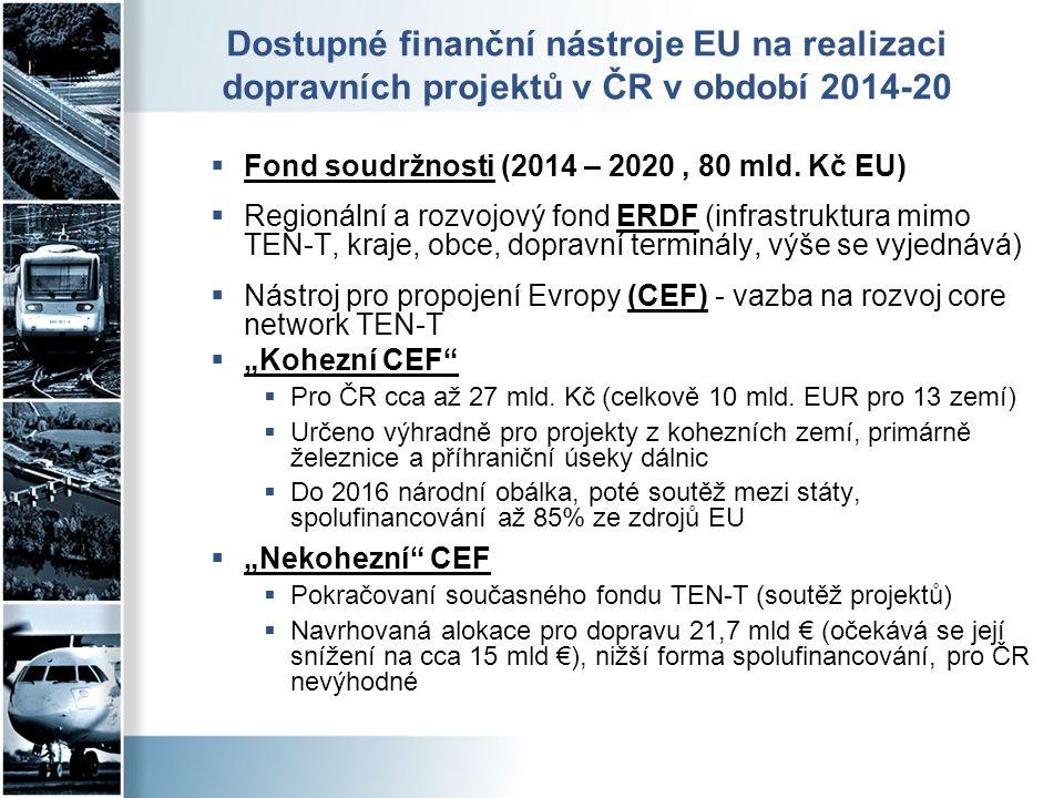 Dostupné finanční nástroje EU na realizaci dopravních projektů v ČR v období 2014-20