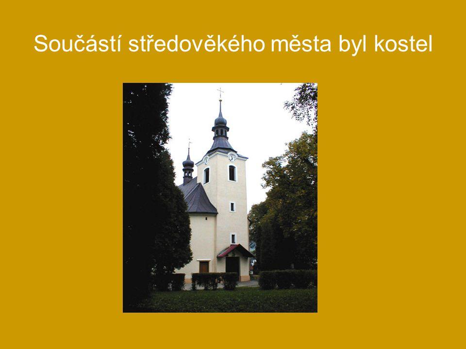 Součástí středověkého města byl kostel