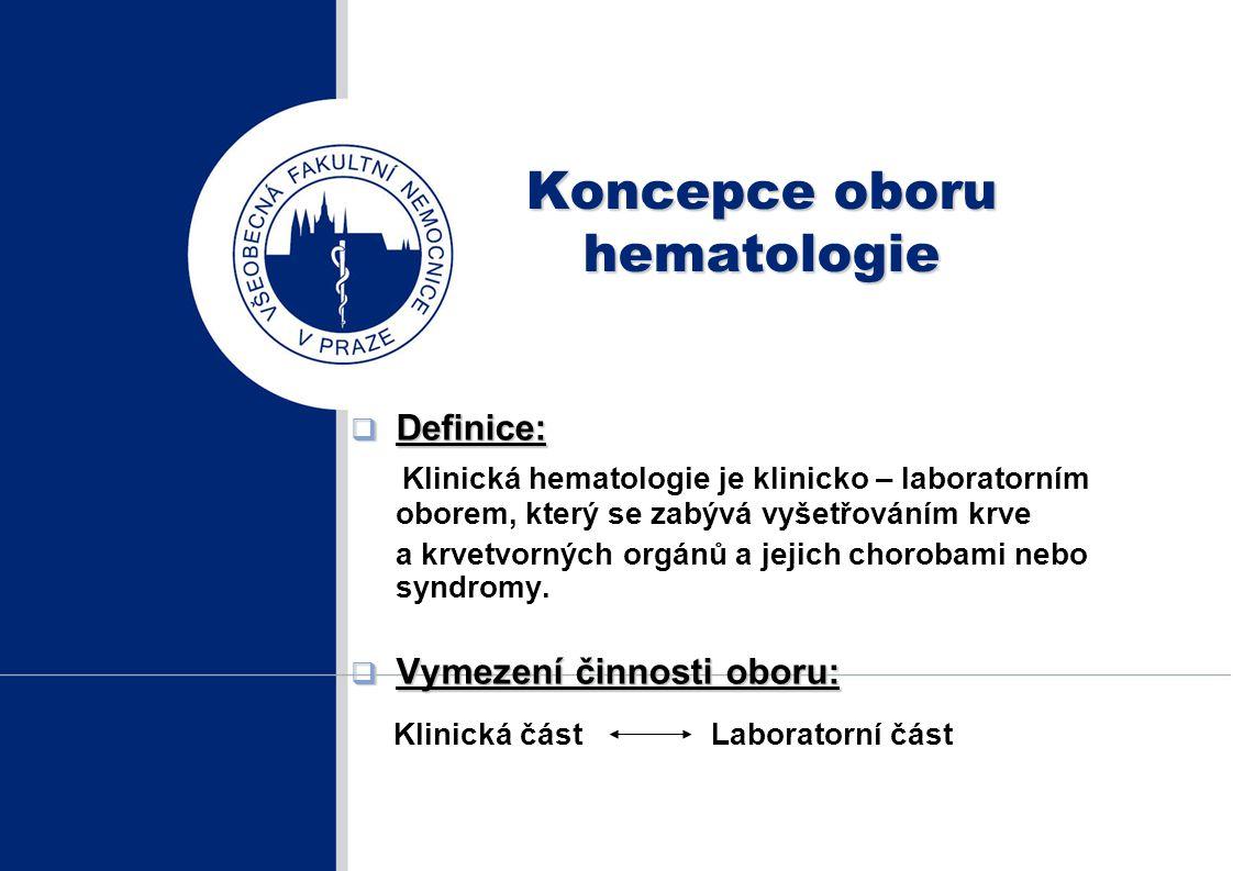 Koncepce oboru hematologie
