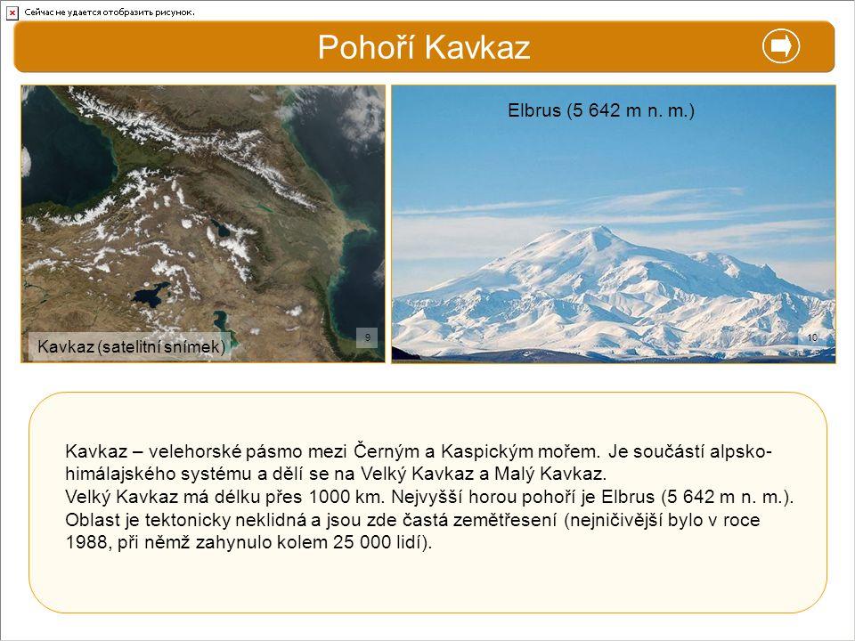 Pohoří Kavkaz X. Zajímavosti Elbrus (5 642 m n. m.)