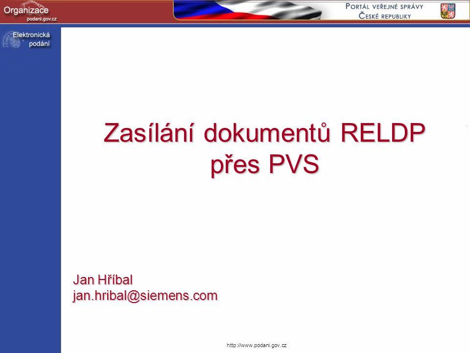 Zasílání dokumentů RELDP přes PVS