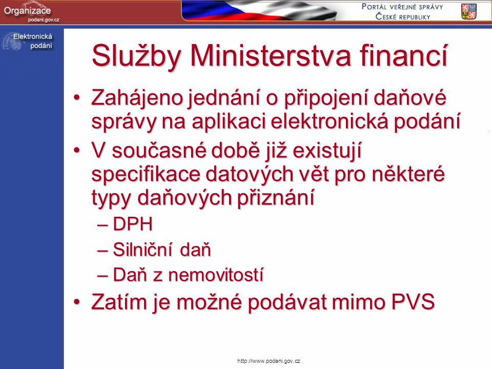 Služby Ministerstva financí