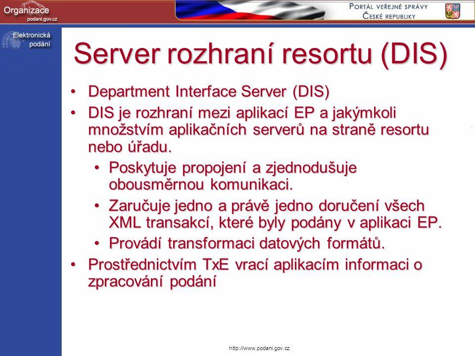 Server rozhraní resortu (DIS)