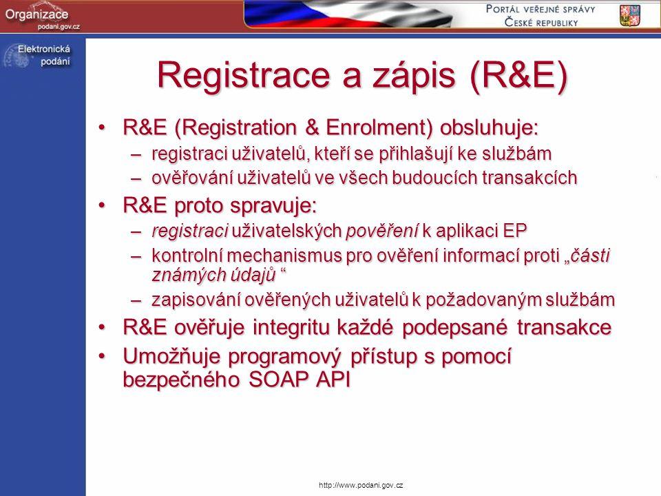 Registrace a zápis (R&E)