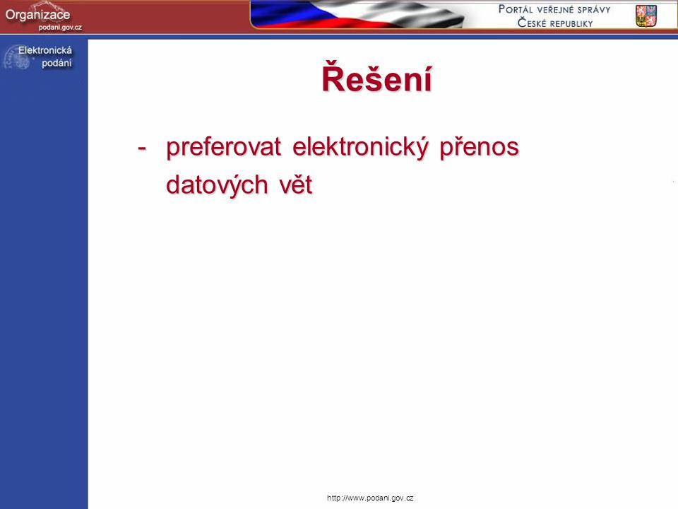 preferovat elektronický přenos datových vět