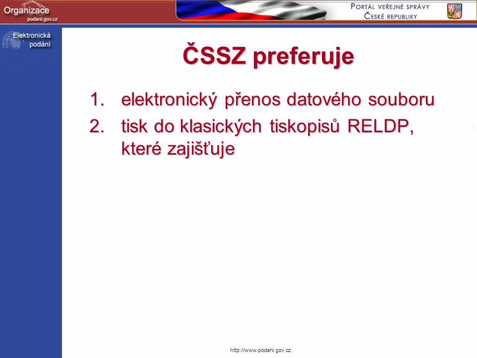 ČSSZ preferuje elektronický přenos datového souboru