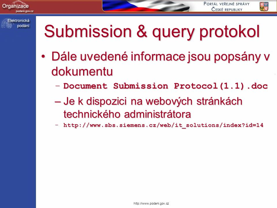 Submission & query protokol