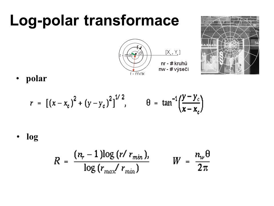 Log-polar transformace