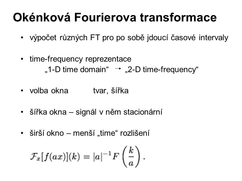 Okénková Fourierova transformace