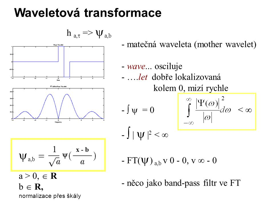 Waveletová transformace