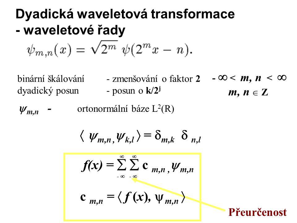 Dyadická waveletová transformace - waveletové řady