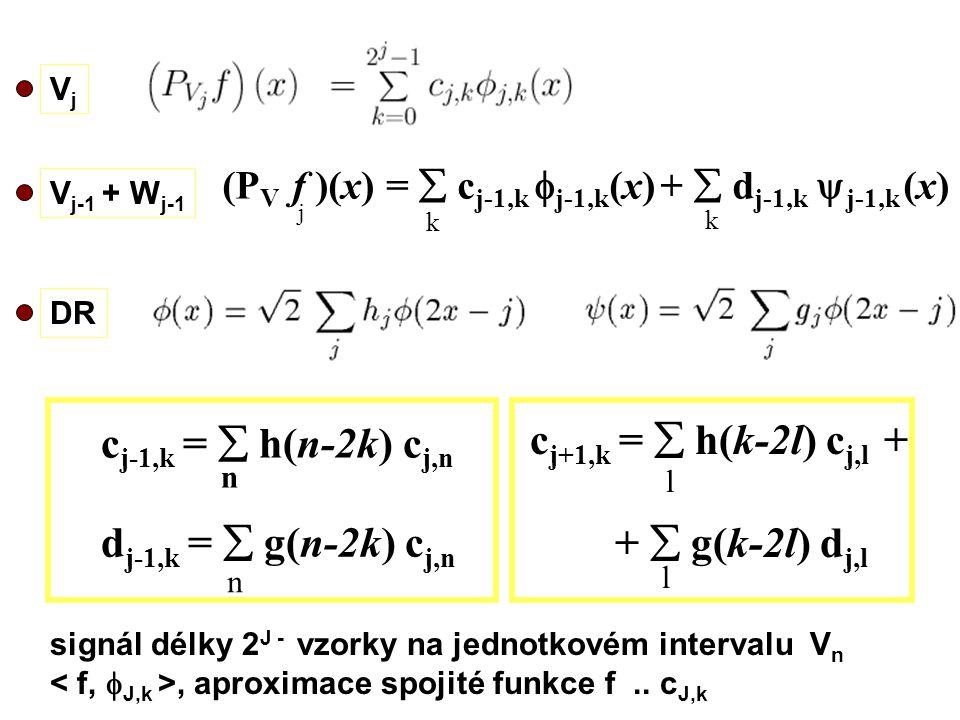 cj+1,k =  h(k-2l) cj,l + cj-1,k =  h(n-2k) cj,n +  g(k-2l) dj,l