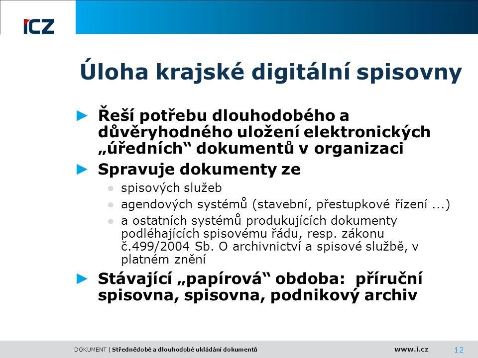 Úloha krajské digitální spisovny