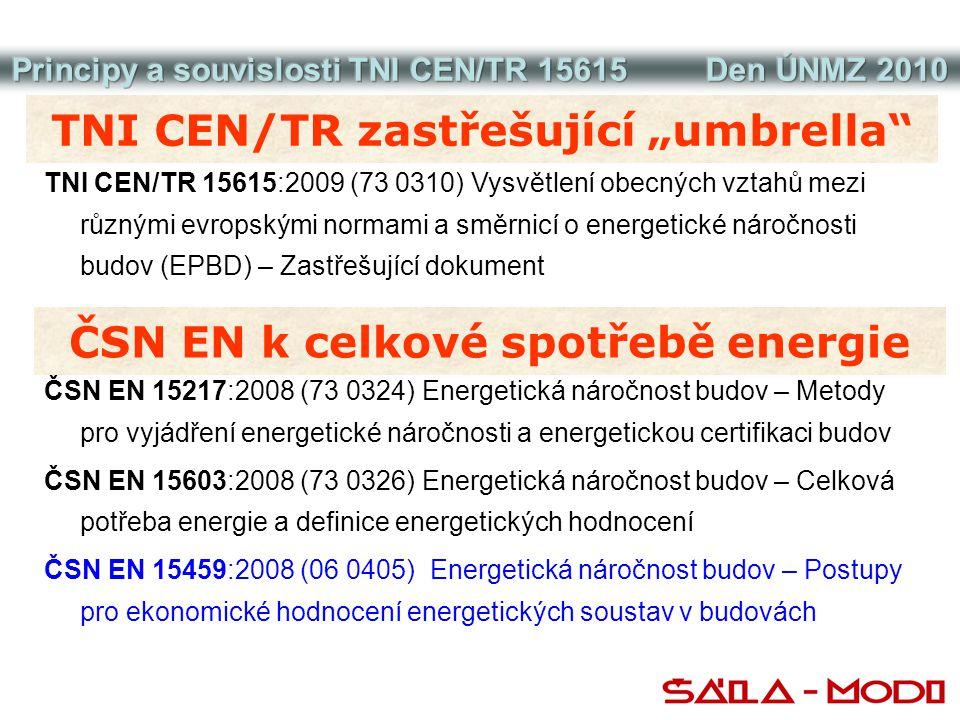 """TNI CEN/TR zastřešující """"umbrella ČSN EN k celkové spotřebě energie"""