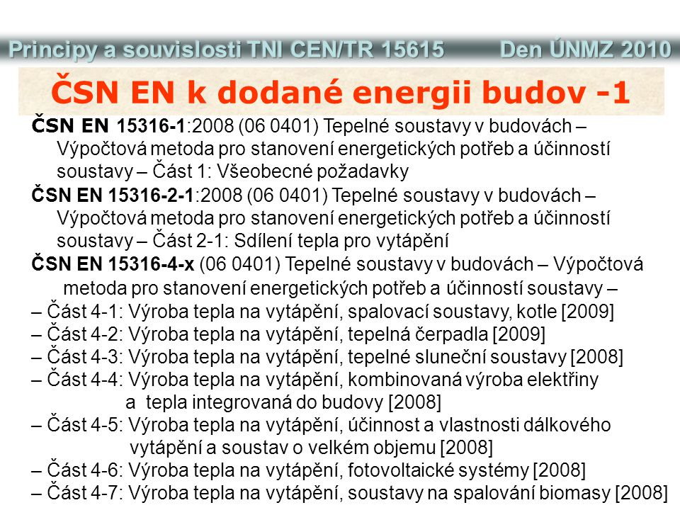 ČSN EN k dodané energii budov -1