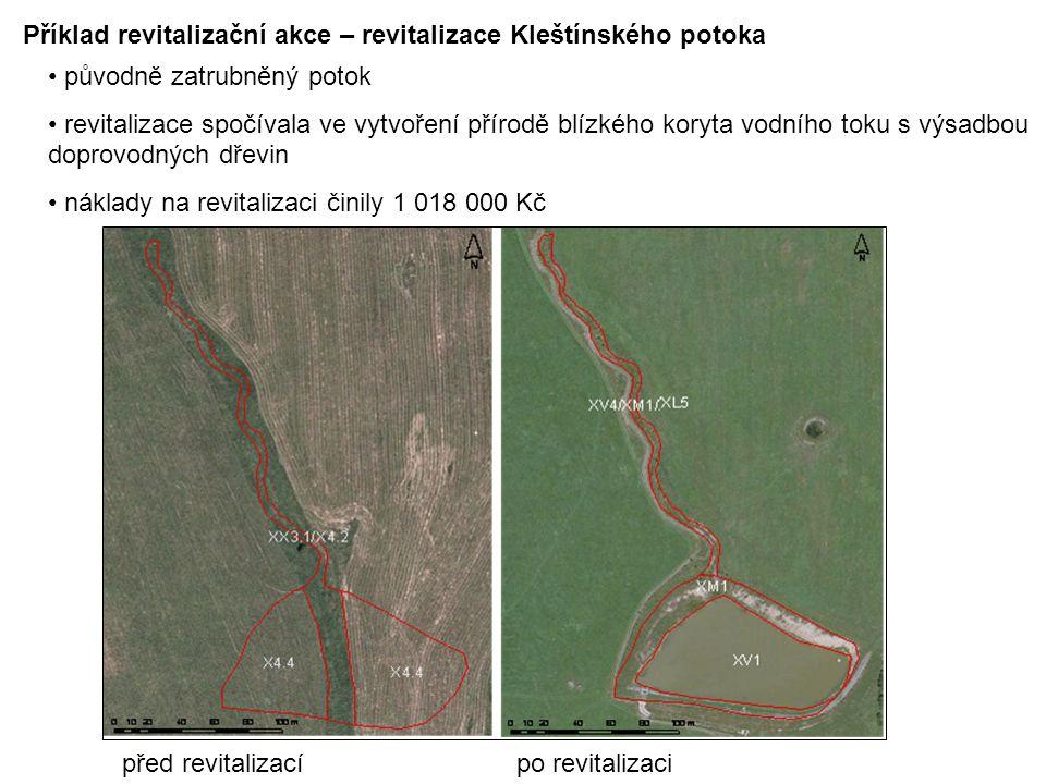Příklad revitalizační akce – revitalizace Kleštínského potoka