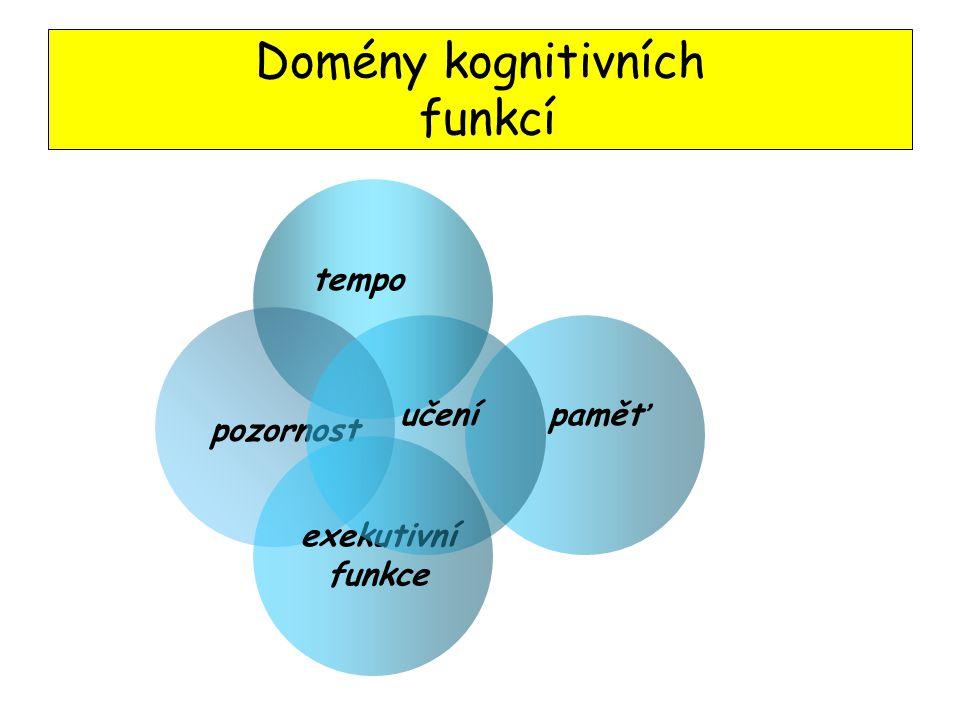 Domény kognitivních funkcí