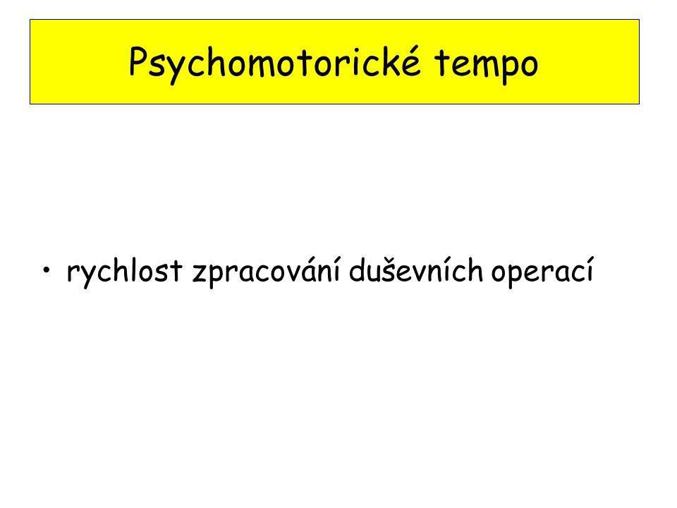Psychomotorické tempo