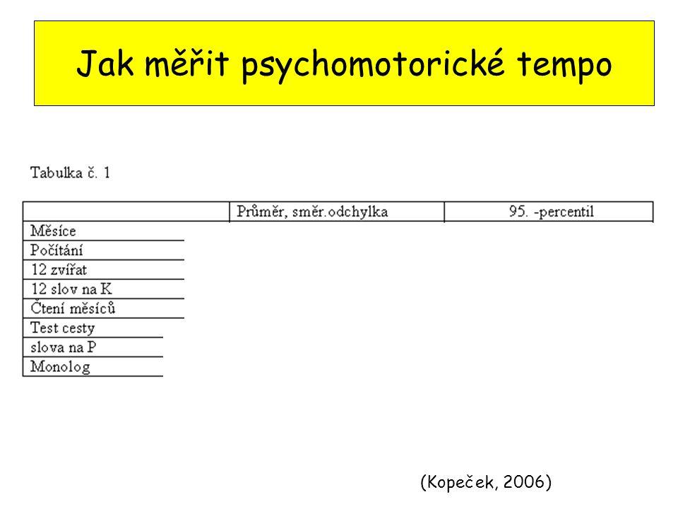 Jak měřit psychomotorické tempo