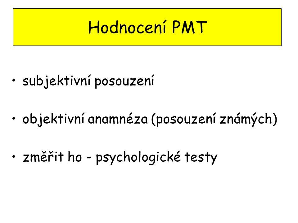 Hodnocení PMT subjektivní posouzení