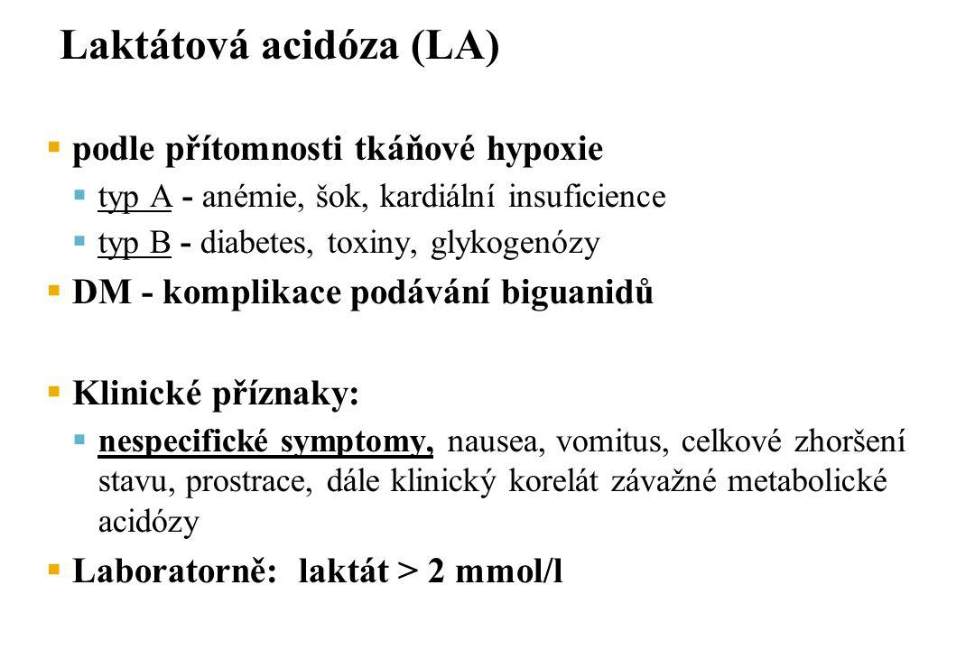 Laktátová acidóza (LA)
