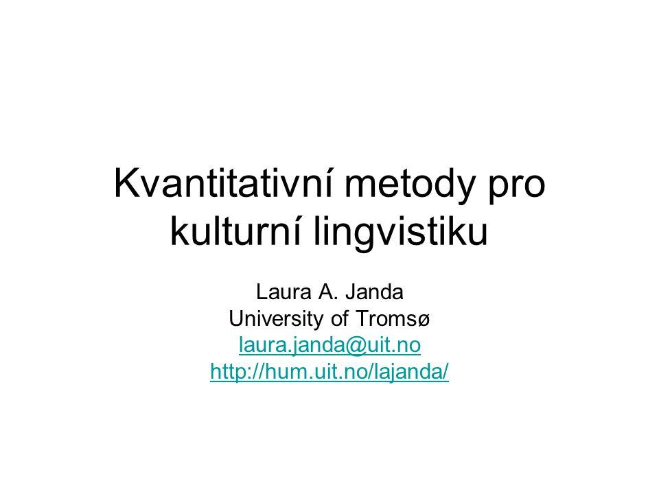 Kvantitativní metody pro kulturní lingvistiku