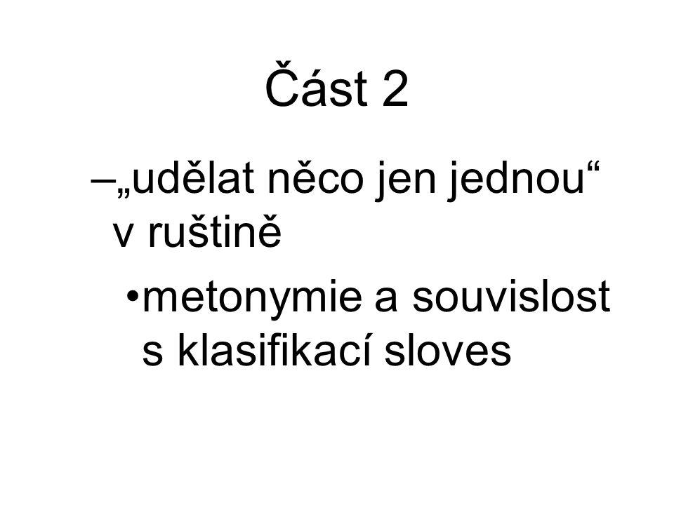 """Část 2 """"udělat něco jen jednou v ruštině"""