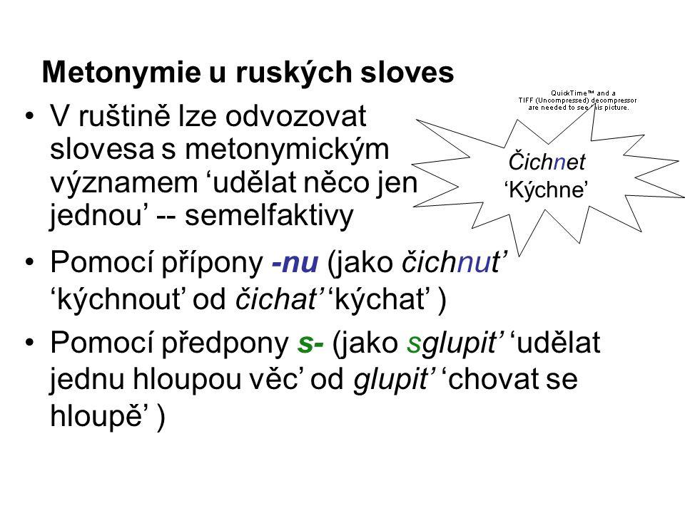 Metonymie u ruských sloves