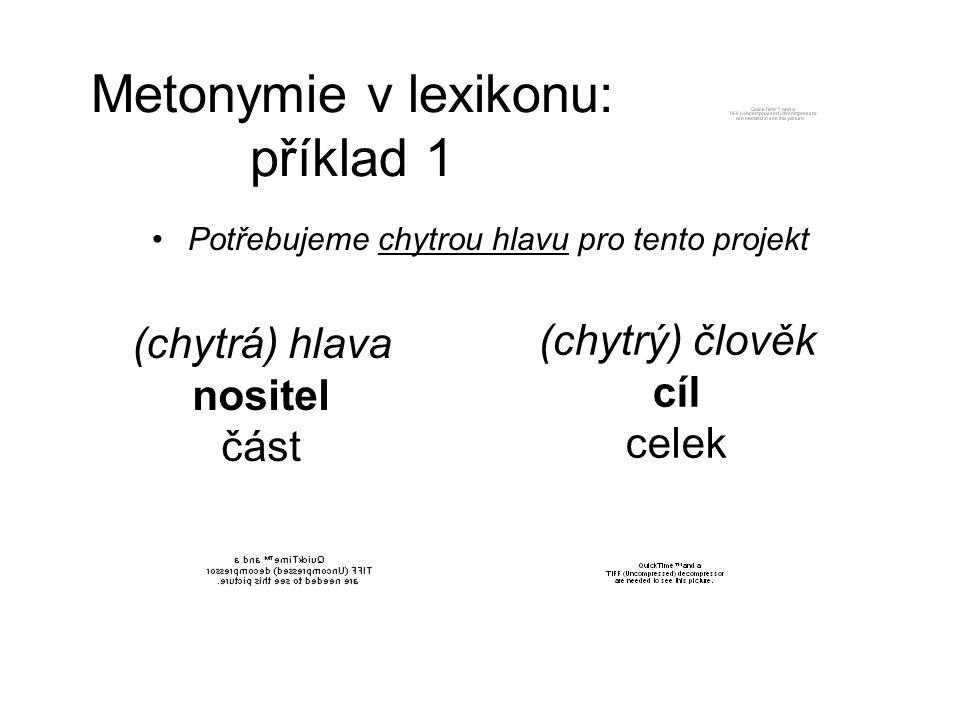Metonymie v lexikonu: příklad 1
