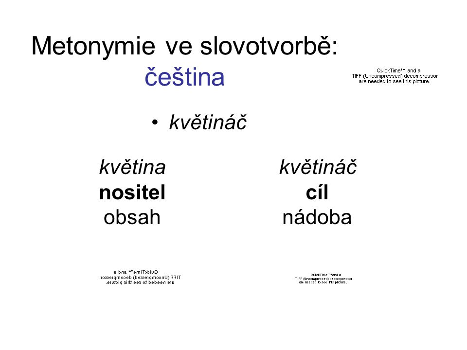 Metonymie ve slovotvorbě: čeština