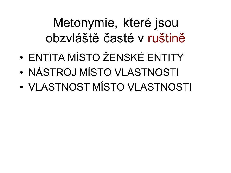Metonymie, které jsou obzvláště časté v ruštině