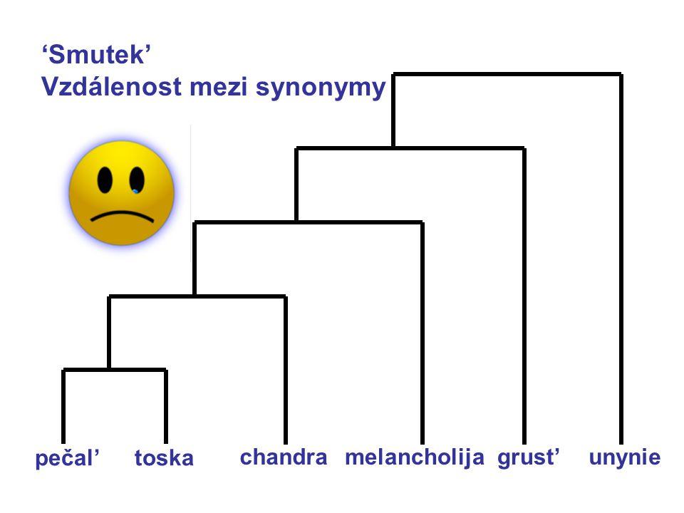 Vzdálenost mezi synonymy