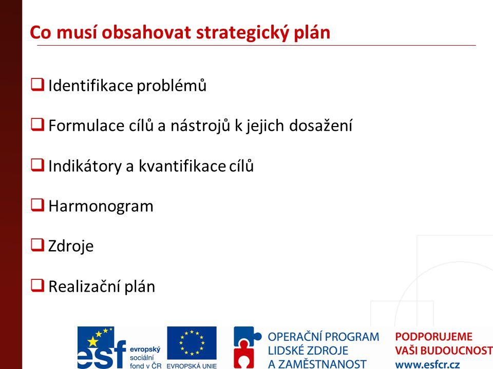 Co musí obsahovat strategický plán