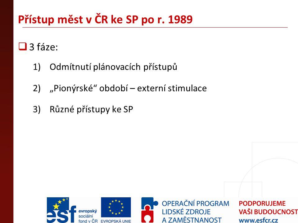 Přístup měst v ČR ke SP po r. 1989