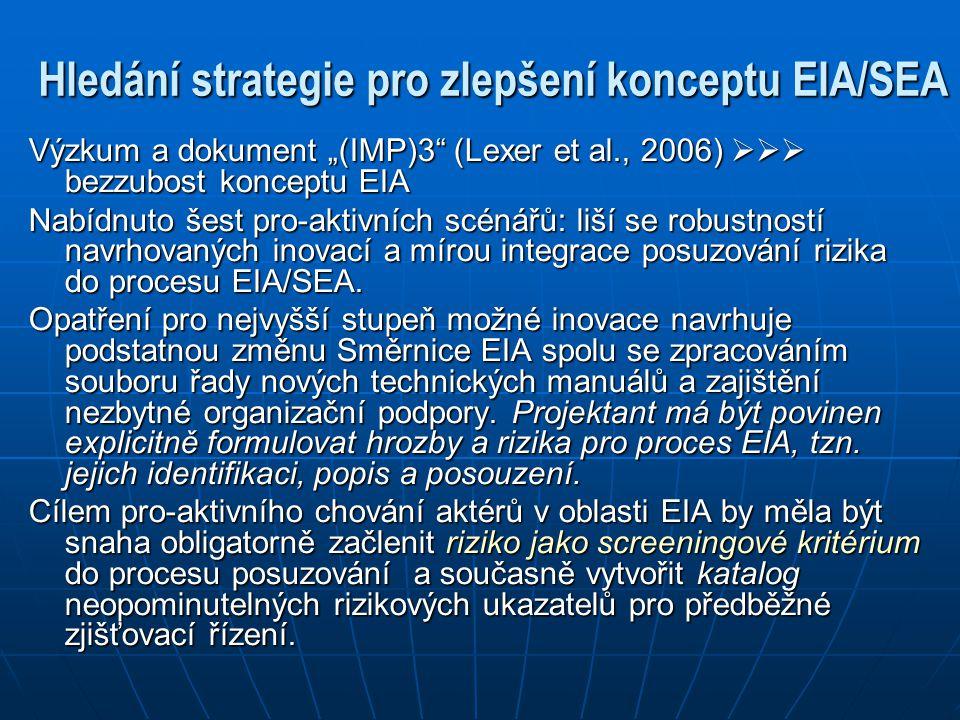 Hledání strategie pro zlepšení konceptu EIA/SEA