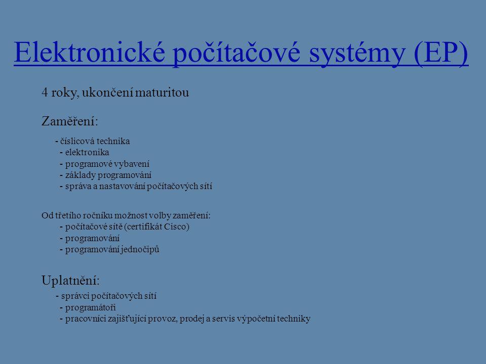 Elektronické počítačové systémy (EP)