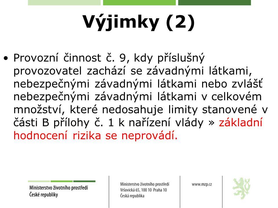 Výjimky (2)