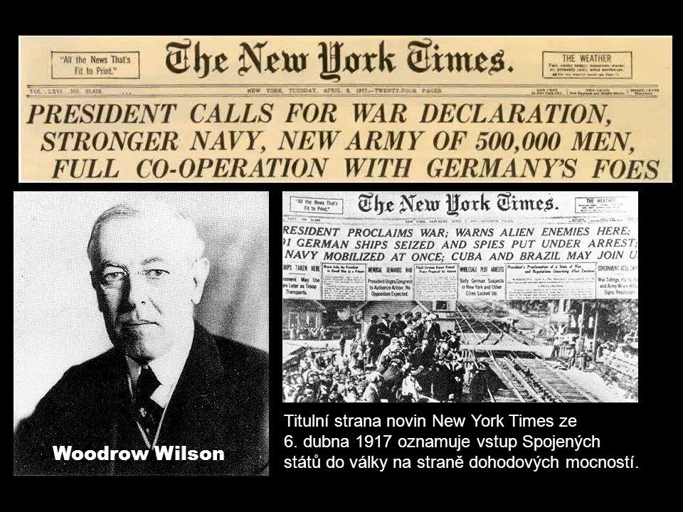 Titulní strana novin New York Times ze 6