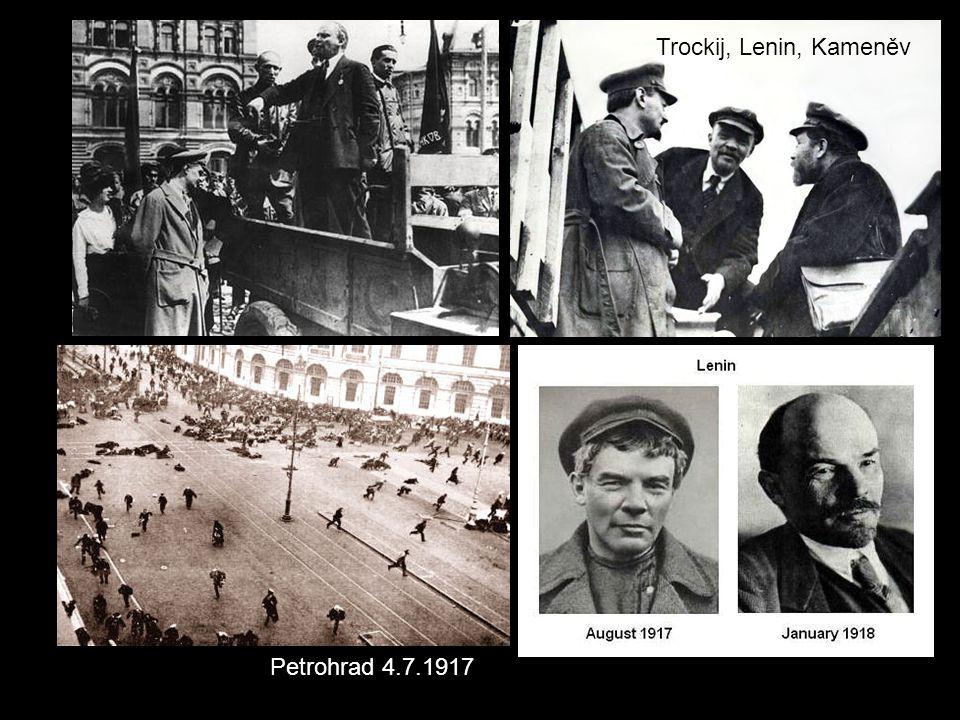 Trockij, Lenin, Kameněv Petrohrad 4.7.1917
