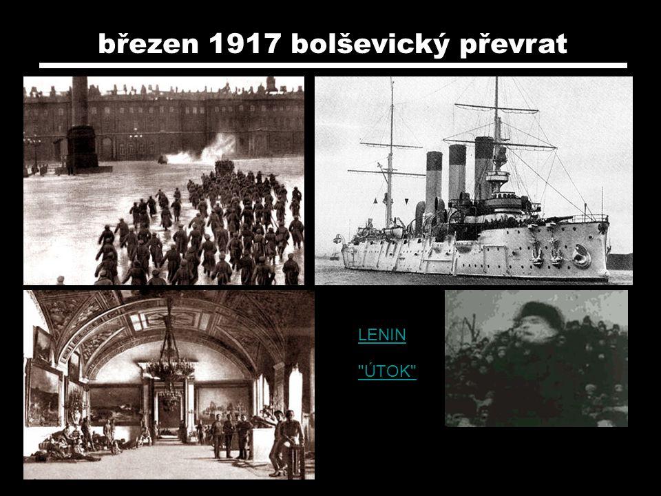 březen 1917 bolševický převrat