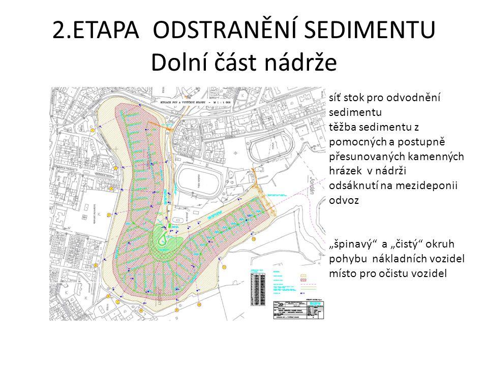 2.ETAPA ODSTRANĚNÍ SEDIMENTU Dolní část nádrže