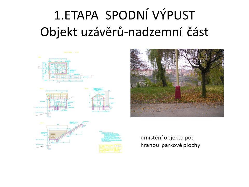 1.ETAPA SPODNÍ VÝPUST Objekt uzávěrů-nadzemní část