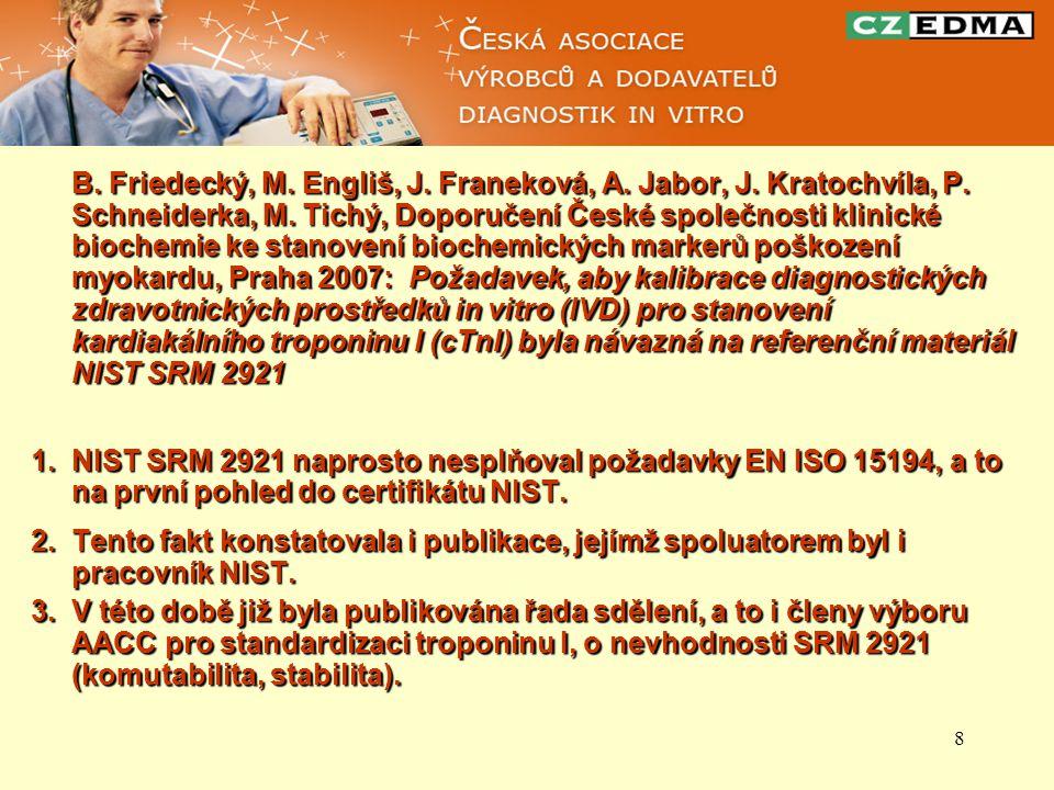 B. Friedecký, M. Engliš, J. Franeková, A. Jabor, J. Kratochvíla, P