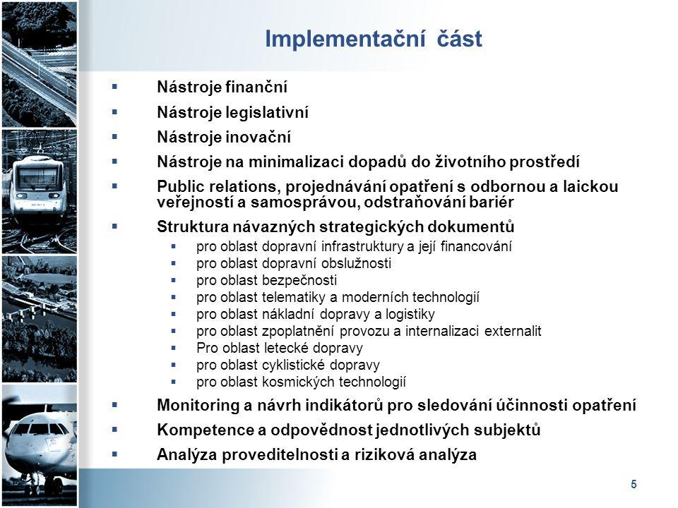 Implementační část Nástroje finanční Nástroje legislativní
