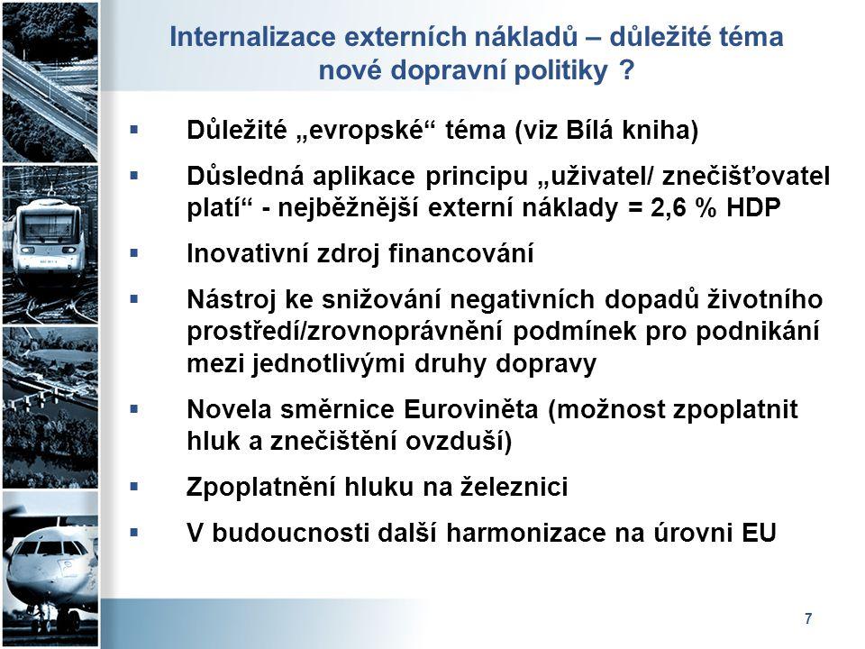 Internalizace externích nákladů – důležité téma nové dopravní politiky